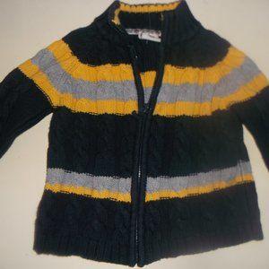 Blue Yellow Cardigan Vest Boy 30 months